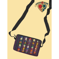 Don'T Worry, Be Happy Jaspe & Worry Doll Shoulder Pouch