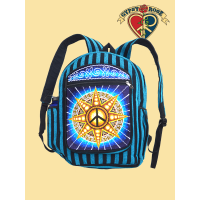 Universal Peace Star Hand Embroidered Backpack