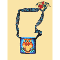 Give A Hoot Hand Embroidered Asst Color Carryin Bag