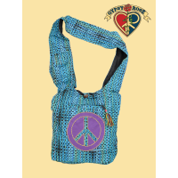 Mod Print and Peace Applique Peddler Bag