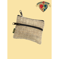 Mountain High 2 Zipper Hemp  Coin Purse