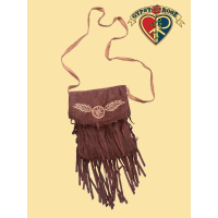 Vegan Chic Pseudo Suede Fringe Embroidered Small Dreamcatcher Bag