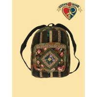 Do It Again Diamond Patchwork Recycled Printed Corduroy Backpack