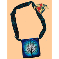 Sacred Tree Illuminated Hand Embroidered Messenger Bag