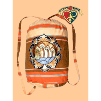 Magickal Mushrooms Lotus Mandala Hand Embroidered Shyama Drawstring Backpack