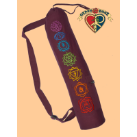 Chakra Symbols Hand Embroidered Cotton Yoga Bag