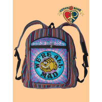 Were All Mad Cheshire Cat Hand Embroidered Gheri Backpack