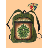 Green Man Hand Embroidered Gheri Backpack