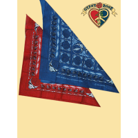 GRATEFUL DEAD STEAL YOUR FACE & ROSES BANDANNA