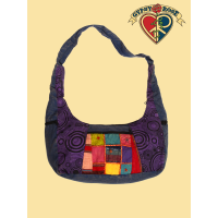 Time And Space Traveler Stonewash Cotton Patchwork Purse