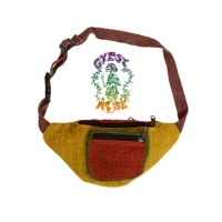 Mountain View Rasta Patchwork Veg Dye Hemp Hiprider Bag