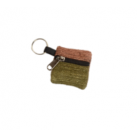 Home Grown Patch Veg Dye Hemp Coin Purse Keychain