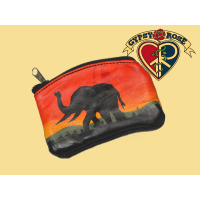 Leather African Coin Purse