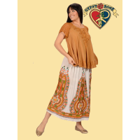 Come Sail Away Dashiki Print Skirt