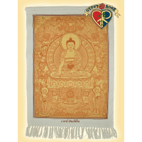 Peaceful Enlightenment Buddha Cotton Wall Hanging