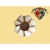 Flower Power Handcarved Bone Button