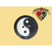 Perfect Harmony Handcarved Yin Yang Bone Button
