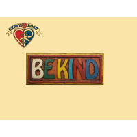 BE KIND PAINTED WOODEN WALL PLAQUE WALL HANGING