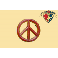 MEDIUM PEACE SYMBOL PAINTED WOODEN WALL HANGING WALL HANGING