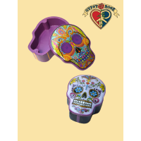 Candy Skull Day Of The Dead Magnetic Lid Box
