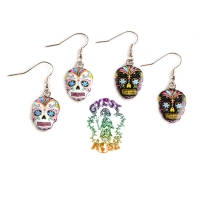 Candy Skull Day Of The Dead Earrings