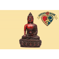 Earth Witness Mudra Meditating Buddha Resin Statue