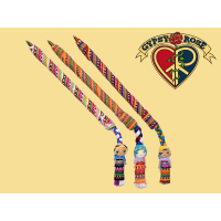 No Hurry To Worry Woven Cotton & Worry Doll Pens