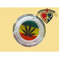 Rasta Pot Leaf Ashtray