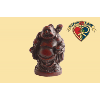Traveling Laughing Buddha Small Resin Statue