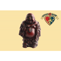 Traveling Laughing Buddha Medium Resin Statue