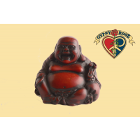 Seated Jolly Laughing Buddha Resin Statue