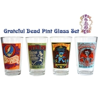 Grateful Dead Poster Pint Glass 4 Pack