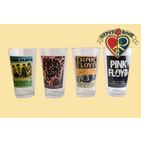 Pink Floyd Poster 4 Pack Pint Glasses