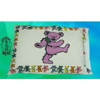 THE GRATEFUL DEAD DANCING BEAR SINGLE PILLOW CASE