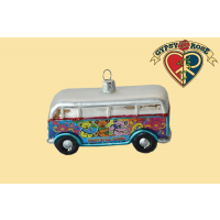 4 INCH GRATEFUL DEAD GLASS BUS ORNAMENT