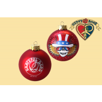 80MM GRATEFUL DEAD GLASS BALL ORNAMENT