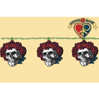 10 BERTHA SKULL & ROSES LIGHT SET