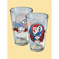 Grateful Dead Steal Your Face 50th Anniversary Pint Glass