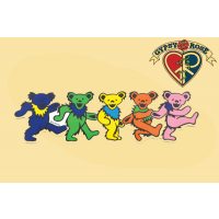 XL Five Dancing Bear Magnet
