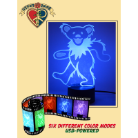 Grateful Dead Dancing Bear 3D Light