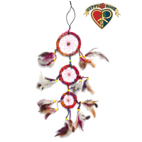 Dream It Share It Recycled Silk 3-Tier Dreamcatcher