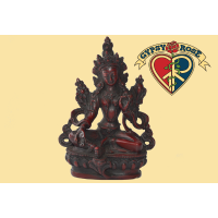 Enlightened Awareness Green Tara Resin Statue