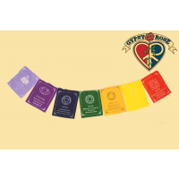Chakra Affirmations Large Prayer Flag