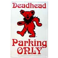 GRATEFUL DEAD DANCING BEAR DEADHEAD PARKING METAL SIGN