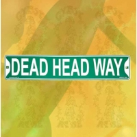 GRATEFUL DEAD DEAD HEAD WAY METAL STREET SIGN