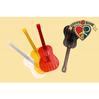 ASSORTED COLOR GUITAR FLYSWATTER