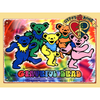 Grateful Dead Dancing Bears Tin Sign