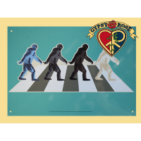 Big Foot Abbey Rd Tin Sign