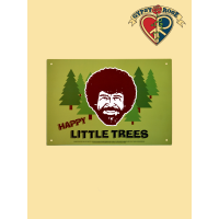 Happy Little Trees Bob Ross Tin Sign