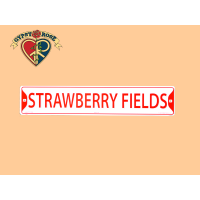 The Beatles Strawberry Field Metal Street Sign